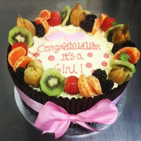 Decotube & Fruit Decoration Cake